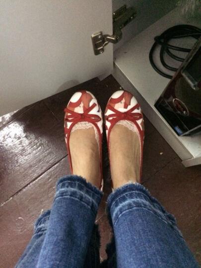 Bata拔佳单鞋女舒适平底碎花浅口鞋时尚休闲鞋 红色559-5502 38 晒单图