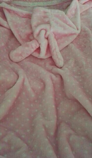 合雨小毛毯午睡披肩斗篷毯子珊瑚绒毯子秋冬季双层加厚披肩毯宅人披风斗蓬毯办公室午睡毯学生午睡斗篷 驼色圆点 晒单图
