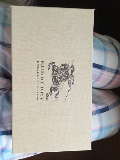 BURBERRY 巴宝莉 女款黑色格纹织物配皮长款钱夹 40249871 晒单图