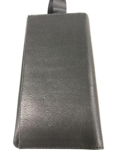 洽利iphonexs max手机套真皮11pro手包苹果XR手机壳678保护套mate30插卡钱包 5.5-6.5英寸大屏专用钱包款黑色 晒单图