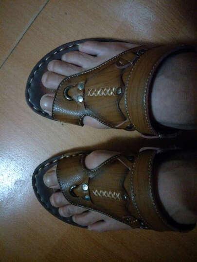 骆驼动感(camel active)凉鞋男 夏季新款户外男士皮凉鞋沙滩鞋男休闲 卡其色 39 晒单图