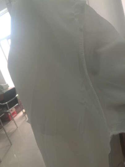 时尚承诺防晒衣女2018新款韩版时尚潮流女装外套修身显瘦休闲中长款七分袖防晒风衣女夏季 白色 XXL 晒单图