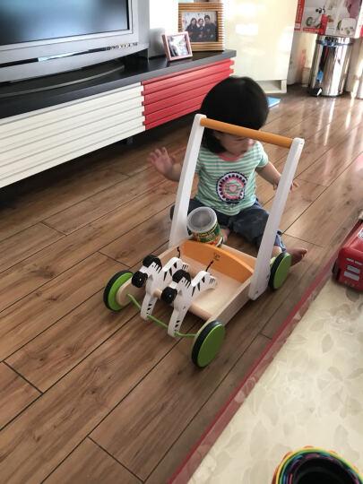 德国Hape玩具斑马手推车E0373 1-2岁宝宝木制益智学步车 送礼佳品 晒单图