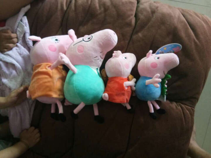 小猪佩奇Peppa pig粉红猪小妹佩佩猪 毛绒玩具 抱枕公仔布娃娃玩偶系列 大号套装30cm+46cm 晒单图