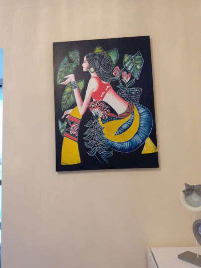 懐軒 现代客厅装饰画蜡染无框画艺术人物抽象卧室墙画沙发壁画少数民族少女床头单幅挂画 此项为无编号选项拍下时请备注编号 60*80-25MM水晶膜 晒单图