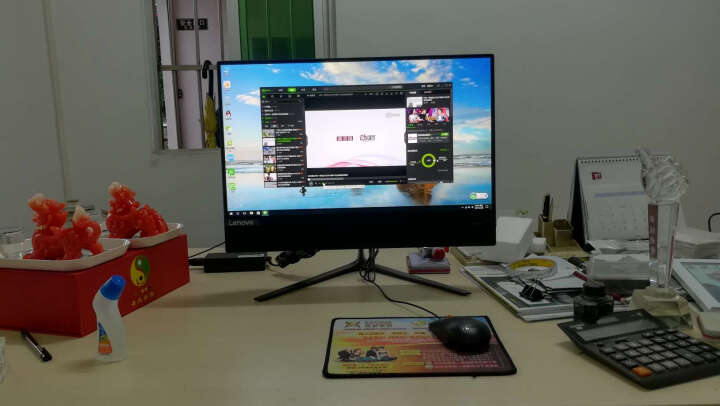 联想(Lenovo)AIO 510致美一体机台式电脑21.5英寸(G4560T 4G 1T 集成显卡 WIFI 蓝牙 Win10 )黑 晒单图