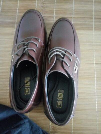 意利船长 男士皮鞋 男鞋男士正装鞋低帮潮流商务休闲鞋婚鞋英伦S-8233 S-8233棕色 40 晒单图