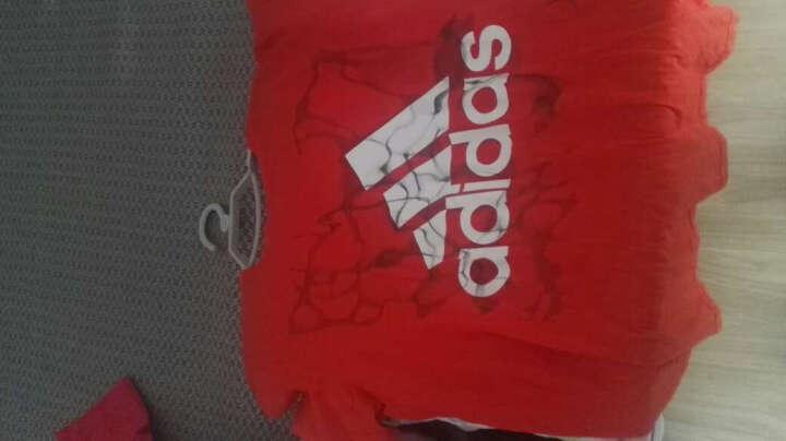 阿迪达斯adidas 运动服男款 休闲T恤 透气羽毛球服 BK2817 XL码 红色 晒单图