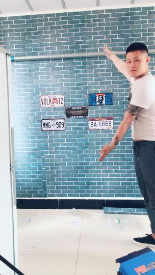 车牌复古怀旧铁皮画 墙上装饰品墙面挂件咖啡厅酒吧店铺墙壁壁饰 咖啡色 迈巴赫名车标 晒单图