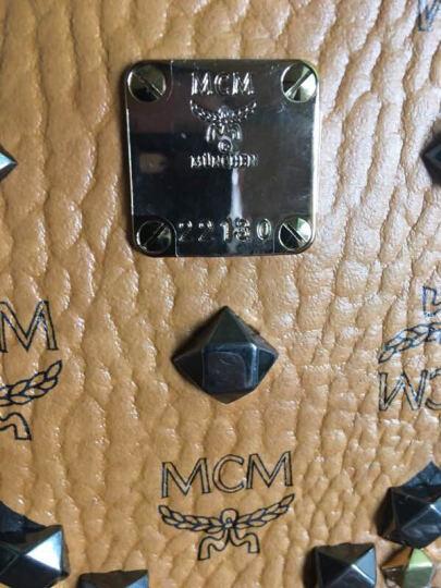 MCM 新款双肩包M字柳钉小号背包 棕色MMK6SVE19CO 晒单图