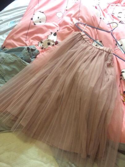 糖力2017夏装新款欧美女装粉色中腰半身裙网纱短裙显瘦不规则裙子 粉色 S 晒单图