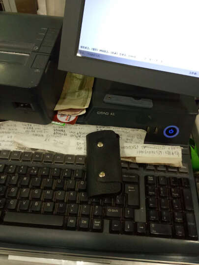汉沽 韩版多功能卡包钥匙包证件包零钱包潮 纯色仿皮钥匙包 颜色随机 晒单图