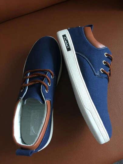 策乐(CELE)男鞋休闲鞋 户外运动板鞋 男士帆布鞋休闲皮鞋 乐福鞋 浅灰- 43 晒单图