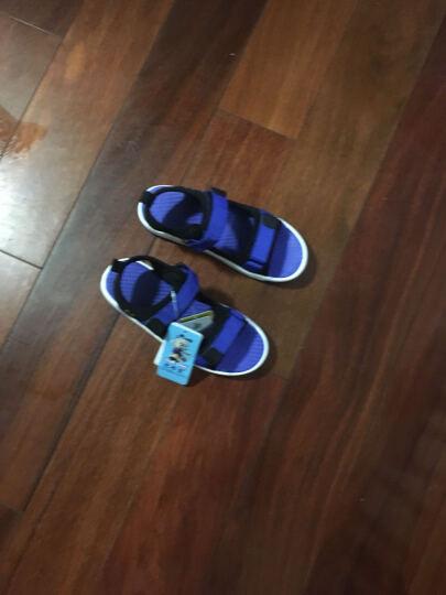 巴布豆童鞋男童凉鞋2017夏季新款儿童凉鞋男中大童沙滩鞋女 386蓝色 35码内长22.5cm 晒单图