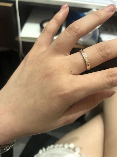 钻石小鸟 Zbird 18K金钻石戒指-订婚结婚情侣钻石对戒-玫瑰诺言 晒单图