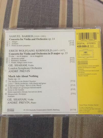 进口CD BARBER KORNGOLD:小提琴协奏曲等(CD) 晒单图