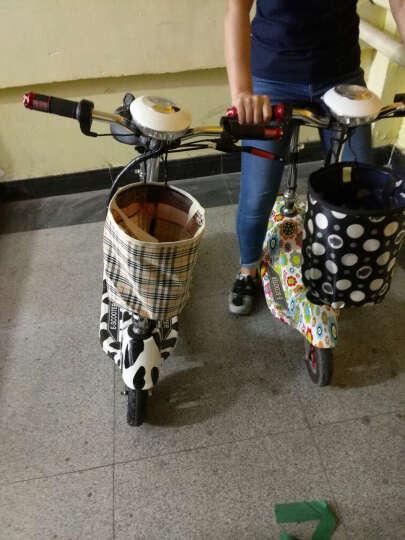 龙吟 女士迷你电动车 成人电动滑板车 小海豚电瓶车代步车 奶牛色 续航50km+五重好礼 晒单图