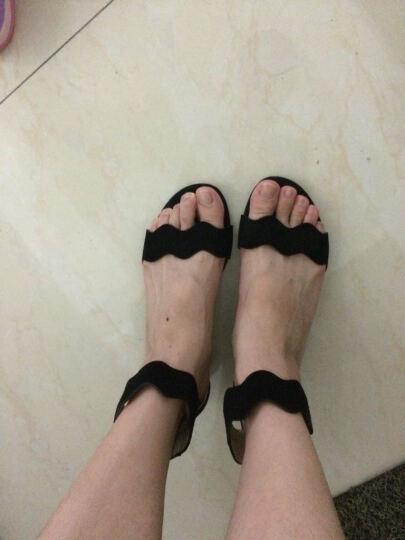 STACCATO/思加图凉鞋女夏季专柜同款银色羊皮女凉鞋9US04 黑色 35 晒单图