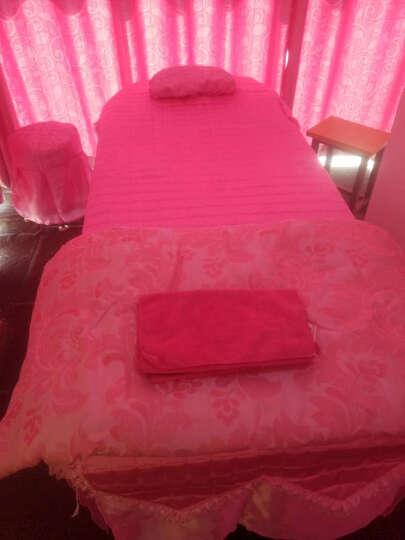 家逸纺 全棉美容床罩 美容SPA床罩纯棉被里提花美容院四件套美容床罩 雅阁-粉 80x200以内床通用四件套 晒单图