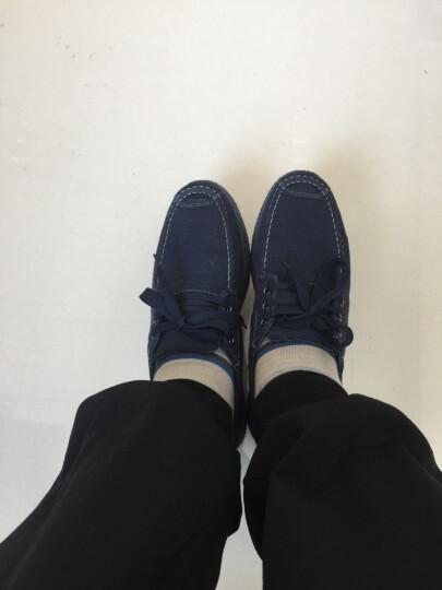 帆布鞋男鞋高帮拉链套脚男士帆布鞋时尚透气休闲鞋 763黑色 41 晒单图