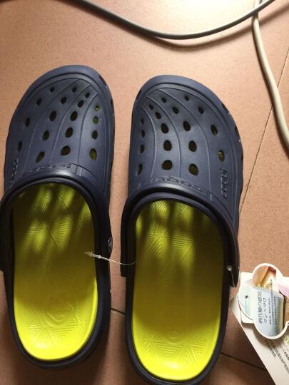 酷趣coqui 洞洞鞋男女沙滩鞋包头凉鞋情侣室内凉拖鞋男款 深蓝色42码 CQ6351 晒单图