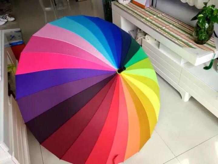 美度 彩虹晴雨两用24骨手动开长柄晴雨伞 M5002 晒单图