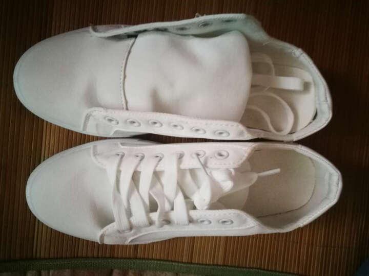 MaiDia男鞋 休闲鞋夏季韩版潮流男士板鞋帆布鞋休闲男鞋子 黑色 42 晒单图