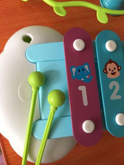 汇乐909启蒙彩虹八音琴 敲琴 儿童音乐玩具 敲鼓铃铛带乐谱 晒单图