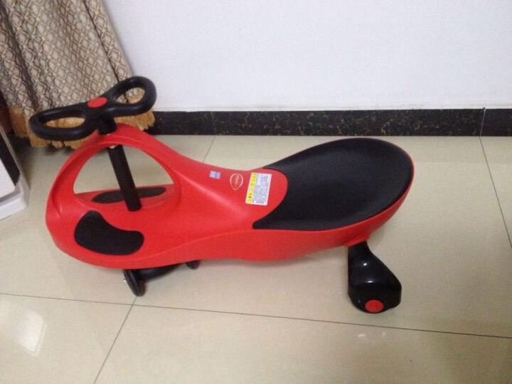 好娃娃儿童扭扭车静音可闪光轮可带音乐宝宝玩具滑溜溜车儿童玩具加大加厚款健身车摇摆车 18款普通防滑轮绿色 晒单图
