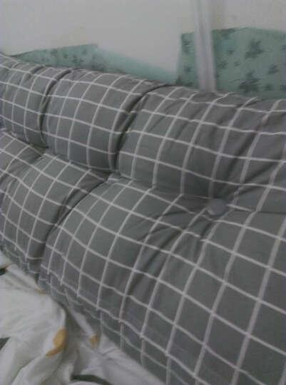 靠垫家纺 床头榻榻米靠背靠垫沙发大靠枕抱枕双人床头软包床上腰枕腰垫外套可拆洗 绿百合 60长50高20厚  (单人靠垫) 晒单图