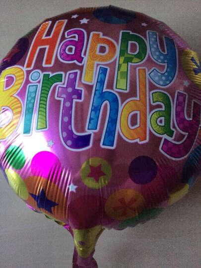 唯丽雅 七夕情人节铝膜爱心生日快乐气球用品 儿童周岁宝宝百天生日趴派对装饰布置用品汽球节日布置 图案3 晒单图