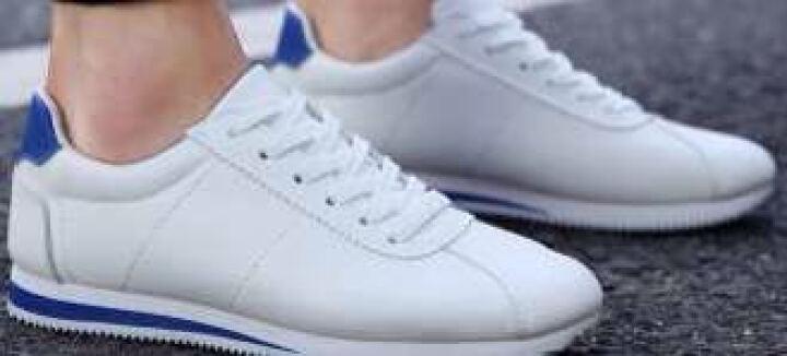 圣拓士板鞋男士小白鞋韩版运动休闲鞋学生春季青少年平底增高鞋子男 S08款白黑色 40码 晒单图