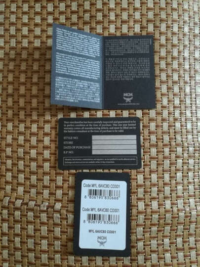 MCM 女士COLOR VISETOS系列涂层帆布长款拉链钱包钱夹黑色 MYL6AVC80BK001 晒单图