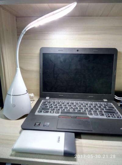 欧米可 创意LED音乐台灯USB充电音箱蓝牙音响台灯床头触摸感应小夜灯插卡 蓝色 晒单图