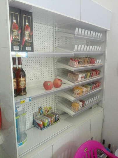 业神制造 超市收银台烟酒柜台组合烟酒货架展示架展示柜钢制配灯箱 10个推烟器不含层板(700层板用) 晒单图
