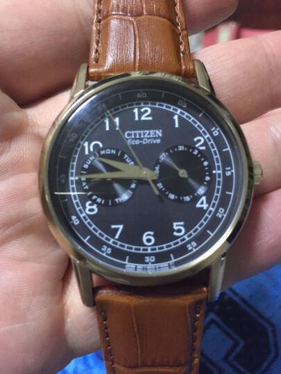 西铁城(CITIZEN)手表 光动能深棕色纹理小牛皮表带休闲男表AO9003-08E 晒单图