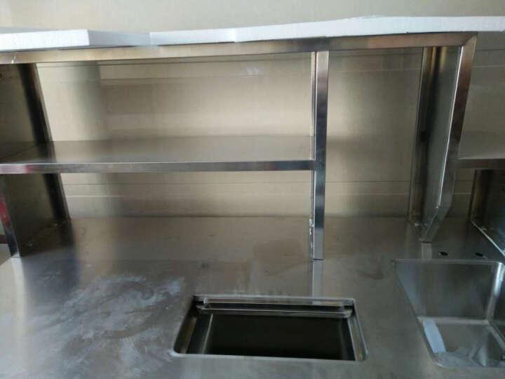 乐创(lecon)冰柜商用冷柜冰吧平冷操作台 奶茶店设备 咖啡设备 烘焙设备工作台水吧台 1.5米长可定造冷藏/冰槽/水池 晒单图