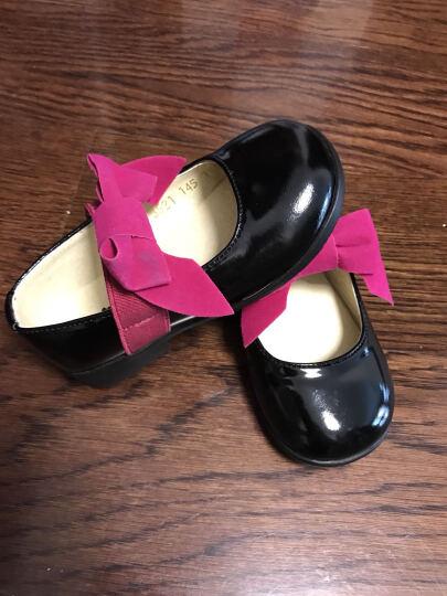 卡卡树 kakashuer女童皮鞋春秋真皮公主鞋儿童皮鞋女童鞋单鞋蝴蝶结黑色C3521 红色 内长18.5cm 晒单图