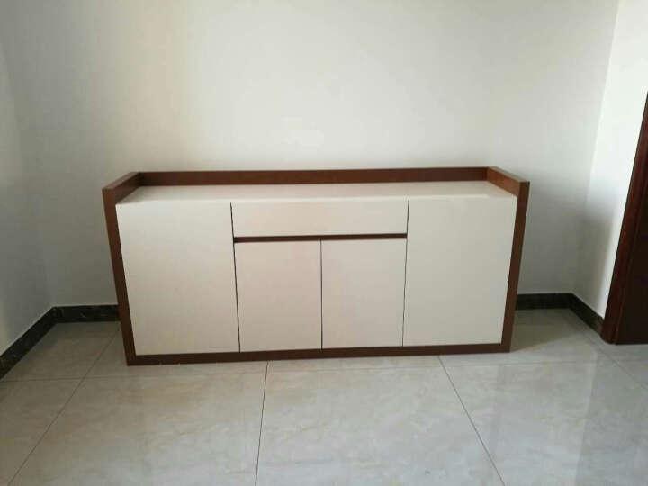 雅术 餐边柜 简约现代白色烤漆餐边柜 碗碟柜 储物柜子 餐边柜1.8米 (柚木色) 晒单图