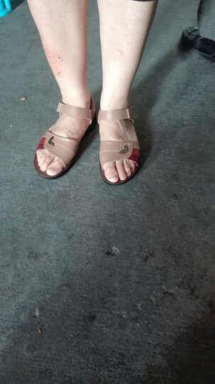 旺奈夏季中老年妈妈凉鞋女夏平底中年女士脚宽肥奶奶凉鞋老人凉皮鞋女软底防滑大码41-43 黑色 38 晒单图