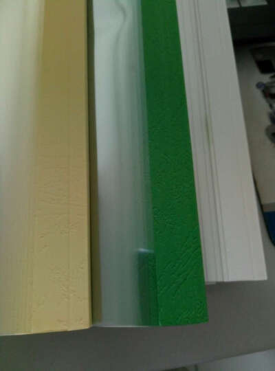 科朗鑫盛 热熔封套A4 热熔装订机透明封皮胶套 a4文件塑料封面10个/包 浅黄 3mm 晒单图