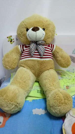 泰迪熊公仔毛绒玩具熊猫公仔抱抱熊美国大熊大号布娃娃女孩生日情人节礼物 浅棕美国大熊 1米 晒单图