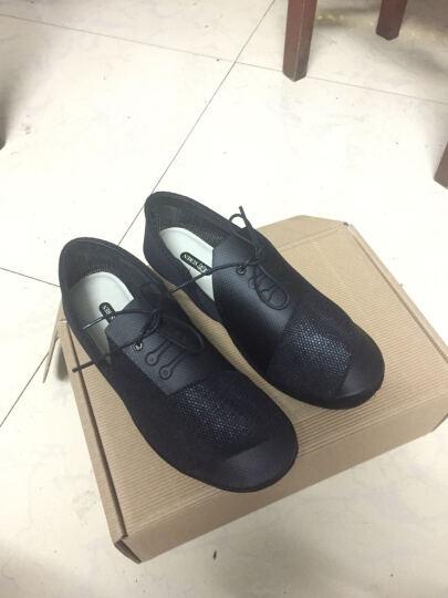 素人原创设计 新款透气网面女船鞋凉鞋 真皮内衬 17CWY001 黑色 38 晒单图