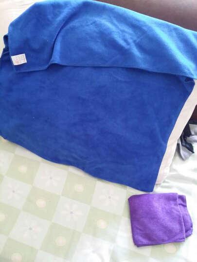 前卫微纤维洗车毛巾擦车毛巾 60*160大号磨绒加厚毛巾(颜色随机) 晒单图