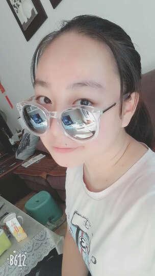 名客(Mincl)透明框箭头款墨镜女潮款太阳镜复古圆太阳眼镜同款28050 透明黄黄绿片 晒单图
