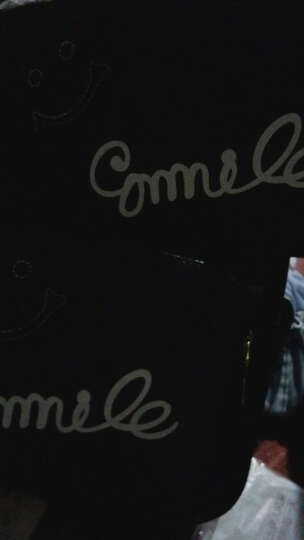 生活驿站2017新品双肩包女生韩版小清新背包学院风拼接撞色笑脸拼接书包潮 粉色三件套 晒单图