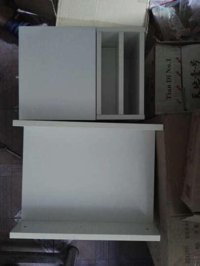 择木宜居 现代简约床头柜 钢化玻璃实木储物柜带抽屉 收纳边几 浅胡桃 两个 晒单图