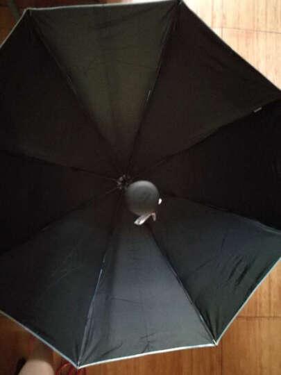 天堂伞 三折黑漆钢骨彩胶防紫外线UPF50+遮阳伞 韩式公主太阳伞时尚女士配饰 蓝色A 晒单图