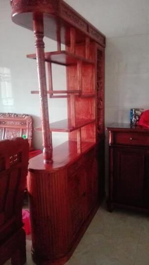 尤亚(YOUYA)双面玄关柜 仿古家具 古典中式实木花梨木色 酒柜 隔断门厅玄关柜 图片色 晒单图