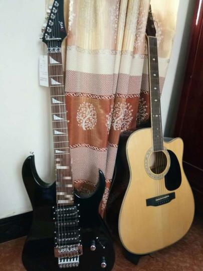 艾薇儿(Avril) 艾薇儿24品双摇电吉他专业舞台演出摇滚重金属电子吉他初学者吉他免费刻字货到付款 经典黑 晒单图
